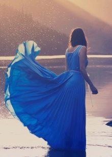 плессированная юбка-солнце в пол