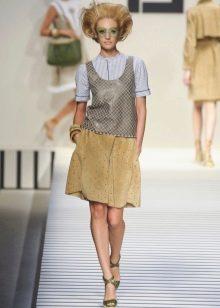 юбка-солнце с врезными карманами