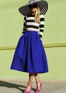 летняя юбка-солнце с врезными карманами
