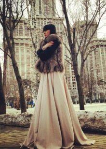 пышная юбка-солнце для зимы
