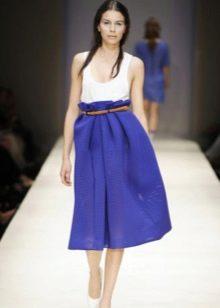 юбка-солнце с завышенной талией