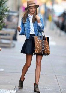 джинсовая юбка-солнце в молодежном стиле