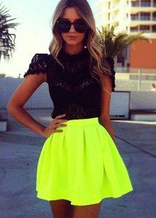 яркая летняя  юбка-солнце