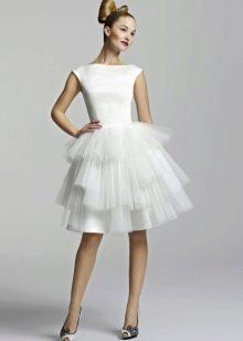 пыфшная белая юбка-солнце