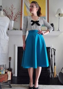 светло-синяя юбка-солнце