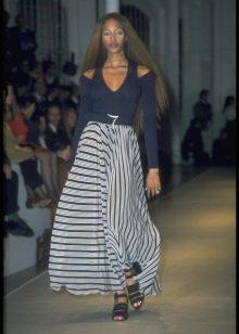 блинная пышная юбка в полоску