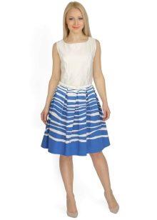 юбка с неровными горизонтальными полосами