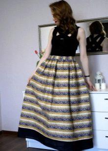 юбка-макси с полосками разных видов