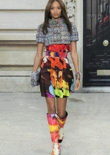 цветная  юбка на резинке