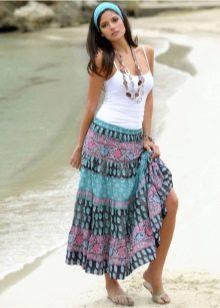 юбка на резинке с орнаментом