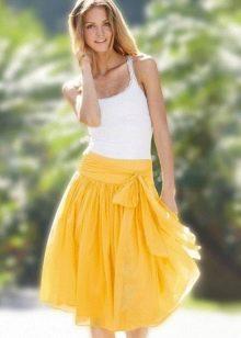 лешкая желтая юбка