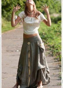 стильная юбка на широкой срезинке