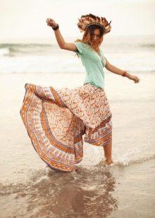 юбка на резинке в стиле хиппи