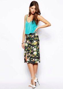 Летняя юбка в цветочек