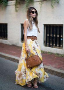 Длинная летняя юбка солнце в пол
