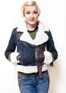 Джинсовая куртка с мехом (77 фото)  на искусственном и натуральном ... 58550d4ac97