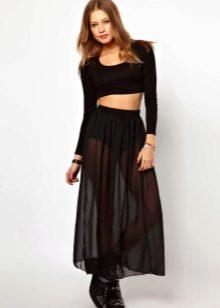Прозрачная юбка под фото 785-385