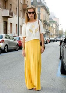 Длинные юбки с футболками фото