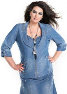 4107c4f183a Джинсовые куртки больших размеров 42 фото  джинсовки для полных ...