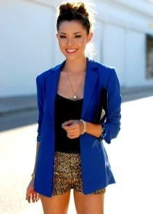 4cb73643fd7e Синий пиджак (60 фото): женские модели, с чем носить, с серыми брюками