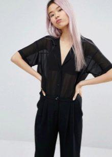 c049de62519 Шифоновые блузы с коротким рукавом невероятно популярны. Особенно  пользуются спросом рукава-фонарики и рукава в виде воланов. Они подойдут  как для работы в ...