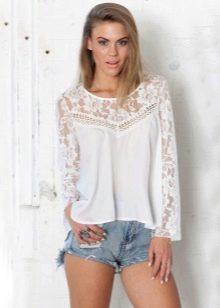 436e985dbe8 Кружевные блузки (66 фото)  модели блуз