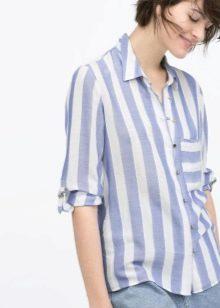 a4e9631b417 Рубашка в вертикальную полоску – это классика. Если правильно подобрать  ширину полос