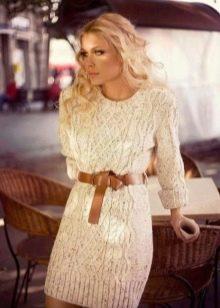 Платье свитер фото с показов женские