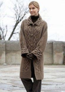 вязаное пальто 140 фото женское пальто с капюшоном для полных