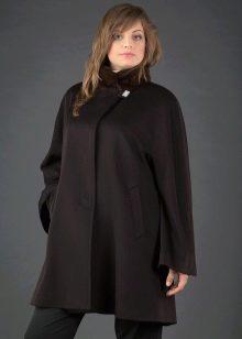 пальто с воротником стойка фото
