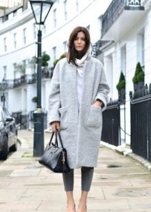 пальто свободного кроя фото с чем носить