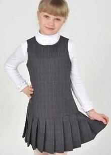 44bcfa69e22 Школьные сарафаны для девочек (141 фото)  школьная форма для ...