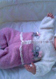 костюмы для новорожденных 65 фото вязаные теплые модели для