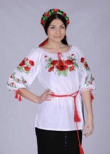 блузка в русском народном стиле