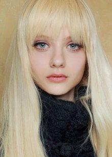 Варианты стрижки челки с длинными волосами фото