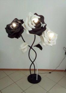 Большие цветы светильники своими руками поэтапно