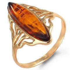 Кольцо женское из красного золота 585 пробы. Вставка: янтарь | Русское  Золото 585 Серебро 925 Православные икона ... | 240x240