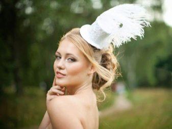 Свадебная шляпка к свадебному платью для второго брака