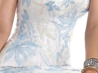 Рельефные узоры на свадебном платье