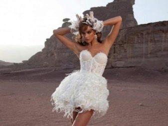 Короткое откровенное свадебное платье от Дэни Мизрахи