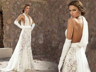 Откровенное кружевное свадебное платье от Дэни Мизрахи