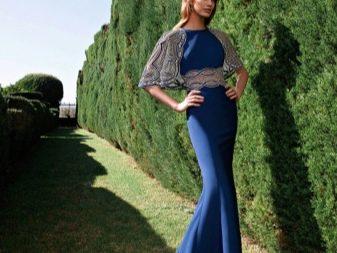 Вечернее платье от Tarik Ediz синее