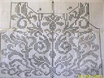 Схема к филейному свадебному топу