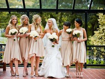 Наряды для подружек невесты в цвете айвори