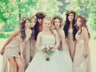 Наряды для подружек невесты цвета айвори
