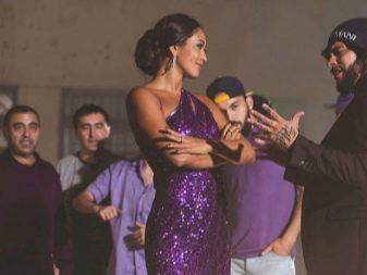 Платье цвета баклажан из песни Тимати