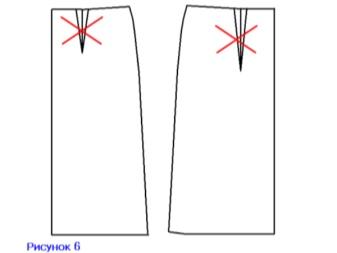 Закрытие вытачек на юбке