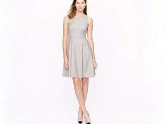 Серное светное платье А-силуэта