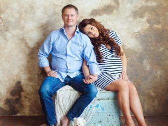 Платье в полоску для фотосессии беременных