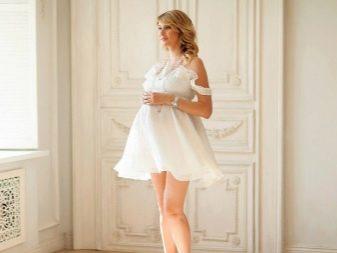 Белое платье для фотосессии беременных